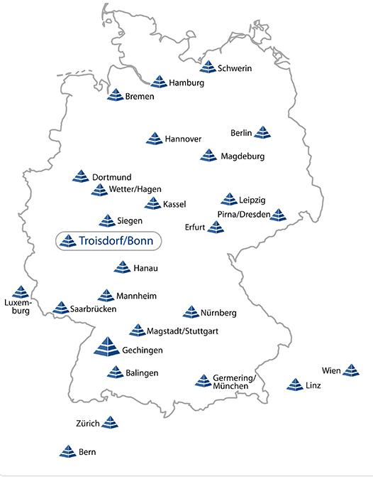 Karte mit Partnern